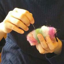 羊毛染色と羊ドール作り講座